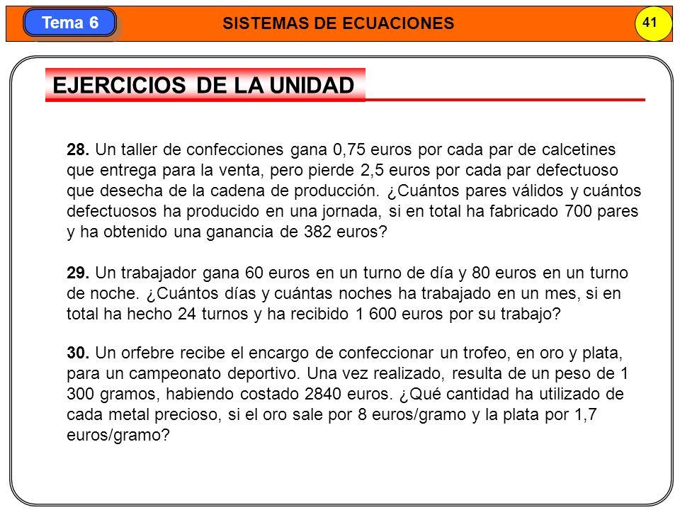 EJERCICIOS DE LA UNIDAD