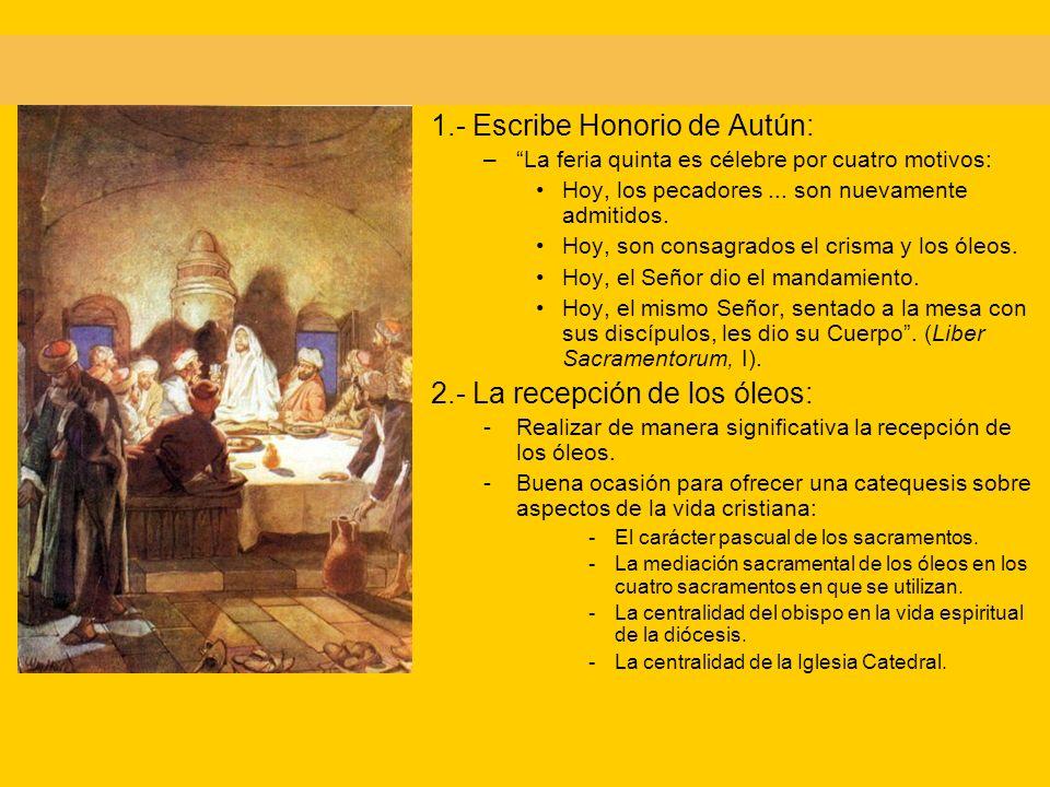 1.- Escribe Honorio de Autún: