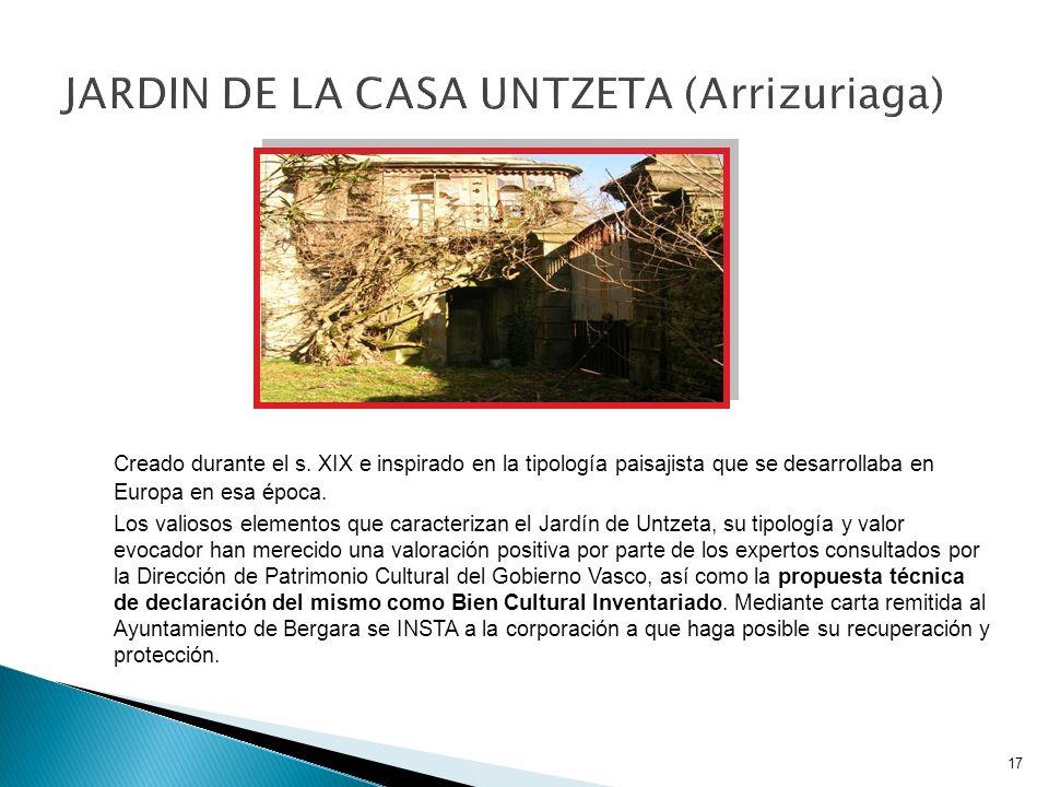 JARDIN DE LA CASA UNTZETA (Arrizuriaga)