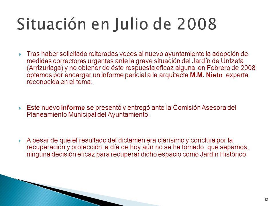Situación en Julio de 2008