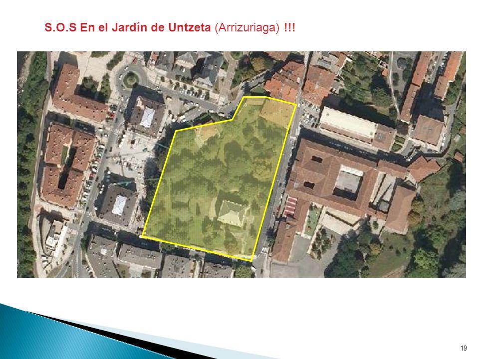S.O.S En el Jardín de Untzeta (Arrizuriaga) !!!