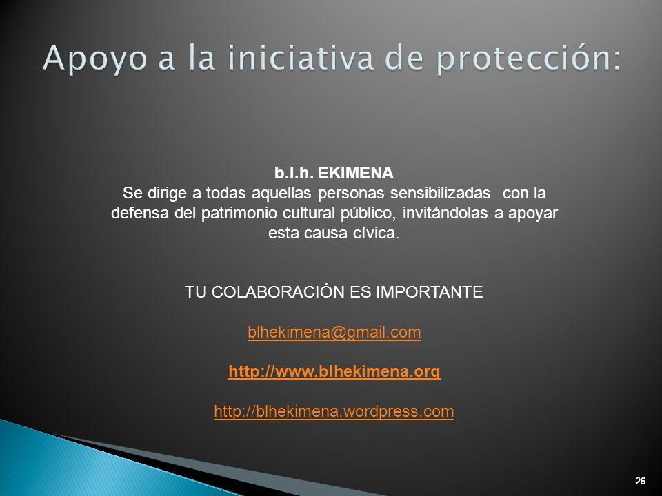 Apoyo a la iniciativa de protección: