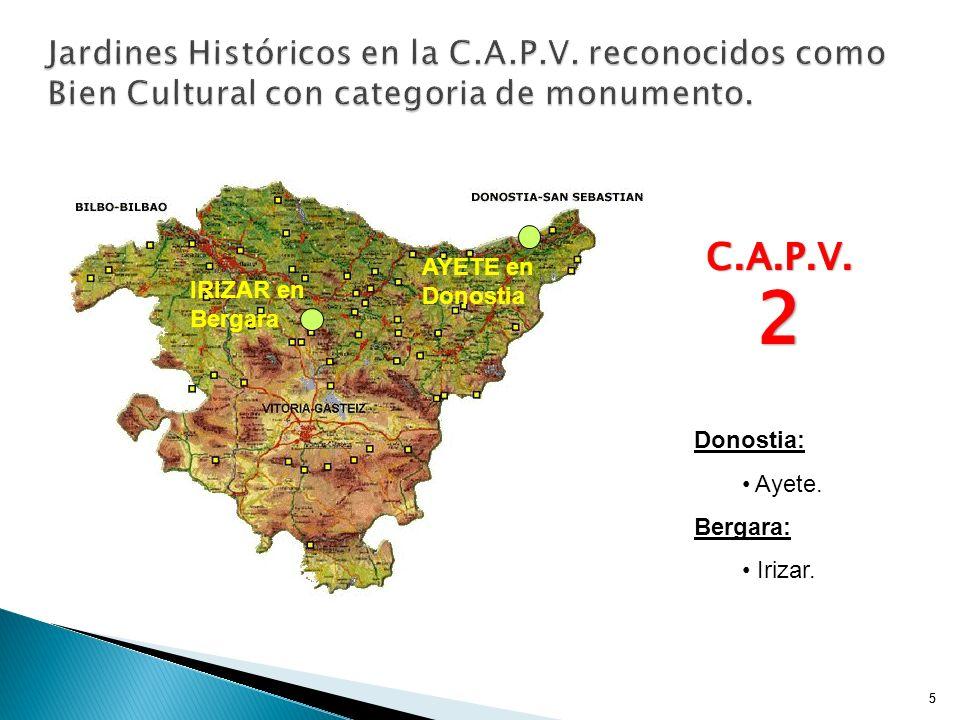 Jardines Históricos en la C. A. P. V