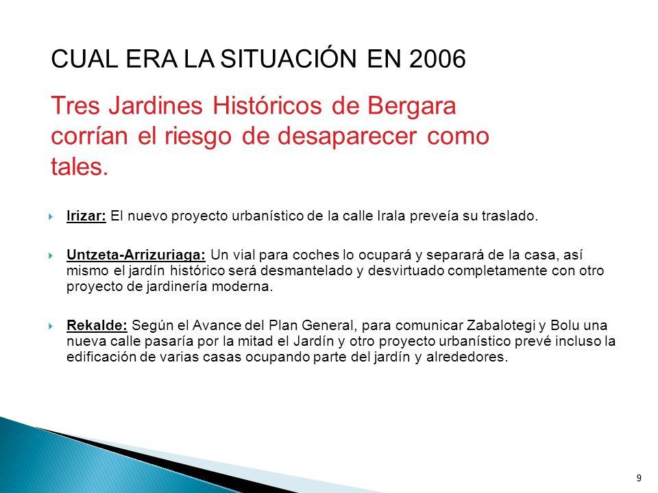 CUAL ERA LA SITUACIÓN EN 2006