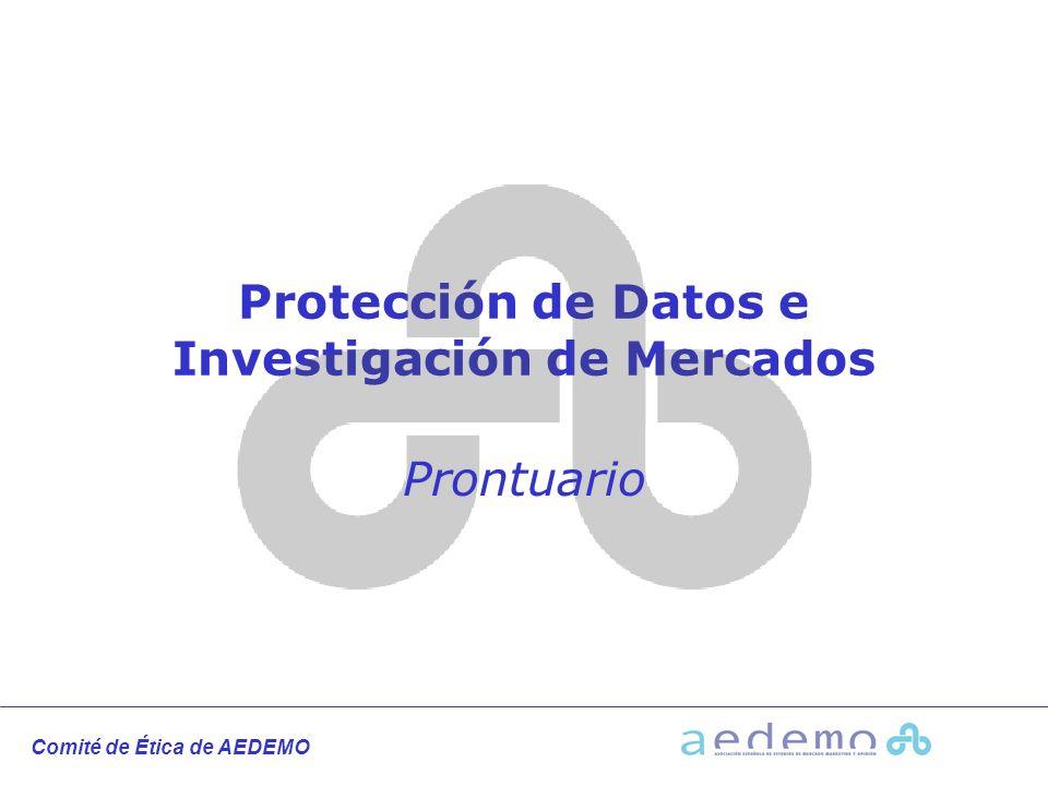 Protección de Datos e Investigación de Mercados