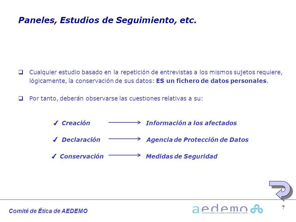Paneles, Estudios de Seguimiento, etc.