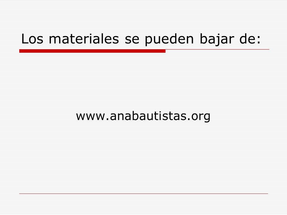 Los materiales se pueden bajar de: