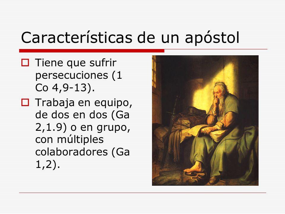 Características de un apóstol