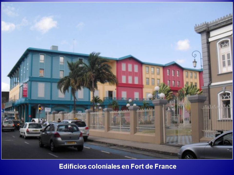Edificios coloniales en Fort de France