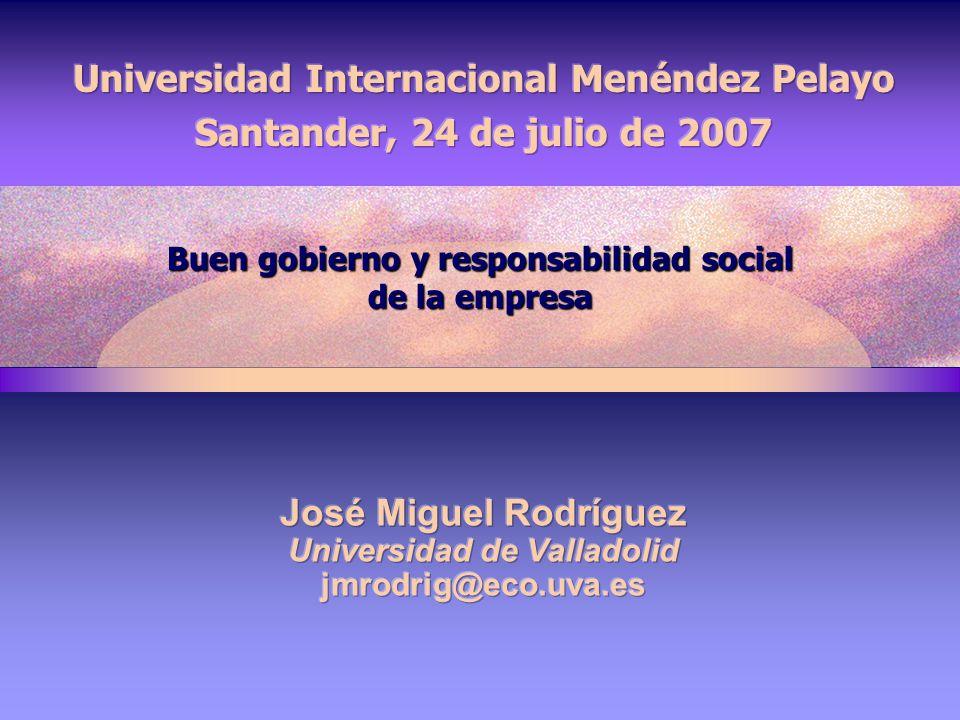Buen gobierno y responsabilidad social de la empresa