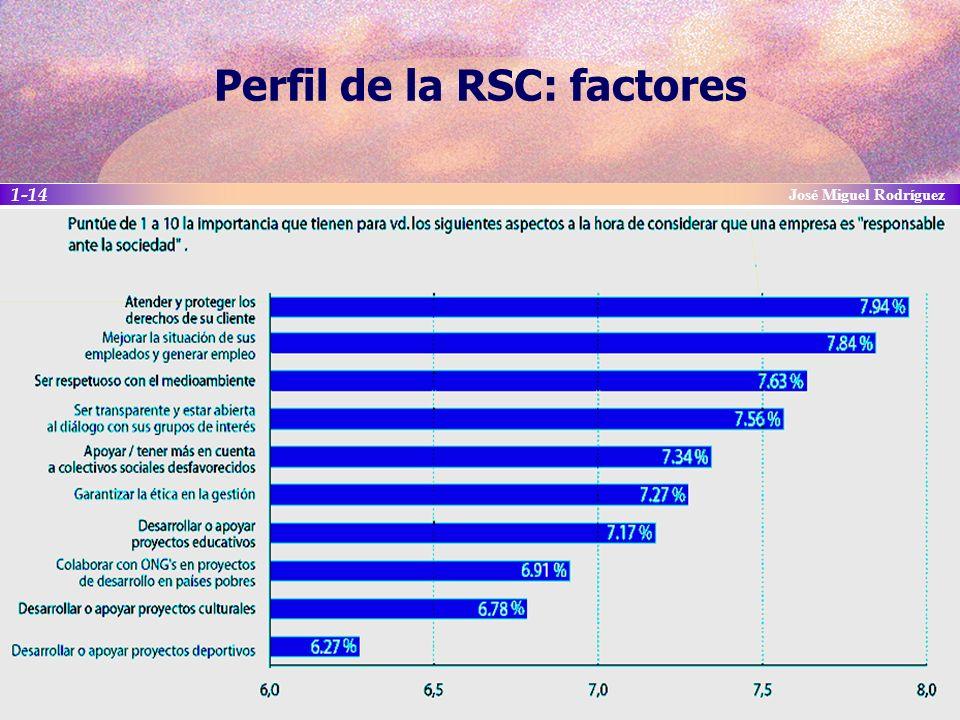 Perfil de la RSC: factores