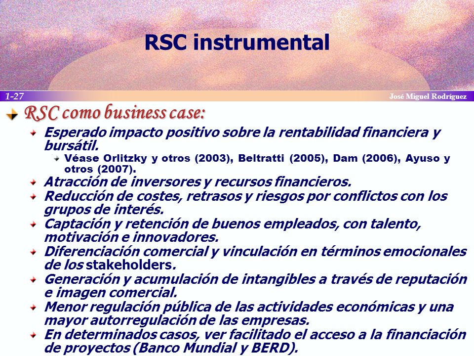 RSC como business case: