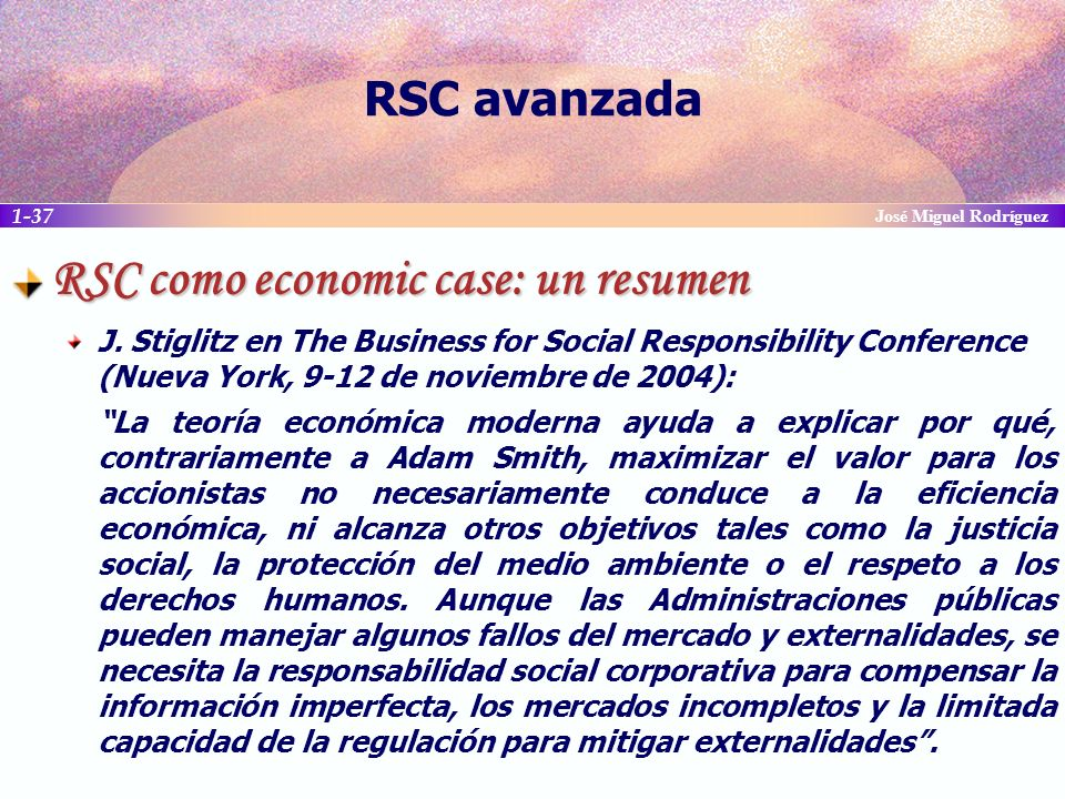 RSC como economic case: un resumen