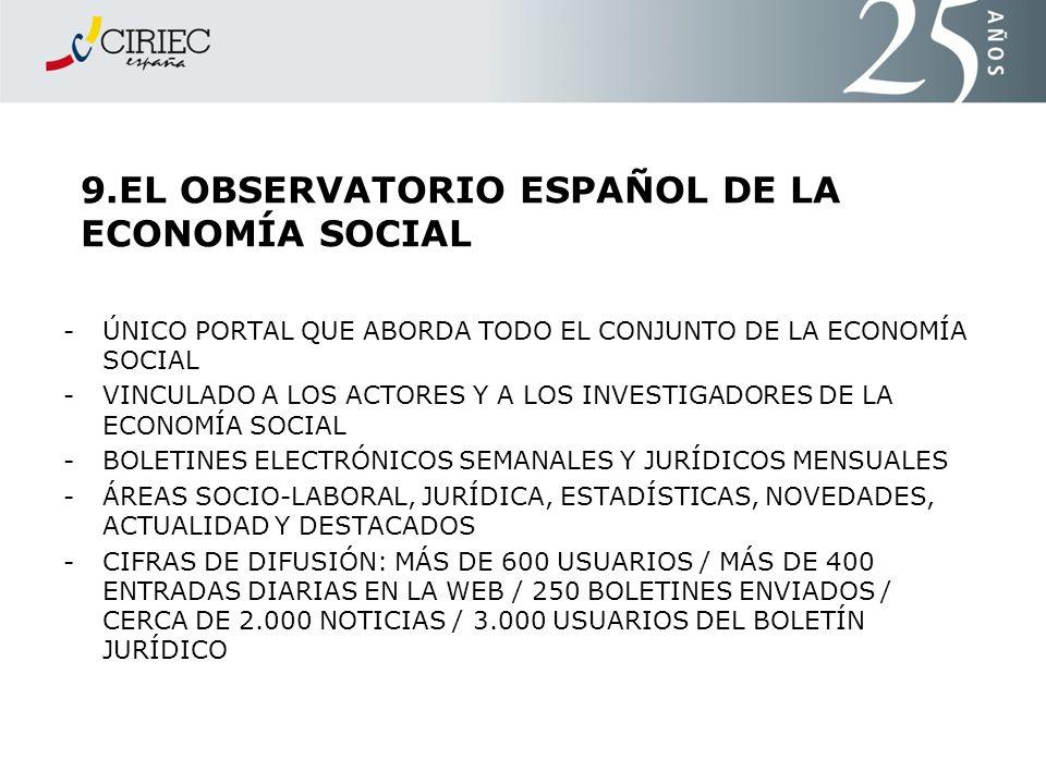 9.EL OBSERVATORIO ESPAÑOL DE LA ECONOMÍA SOCIAL