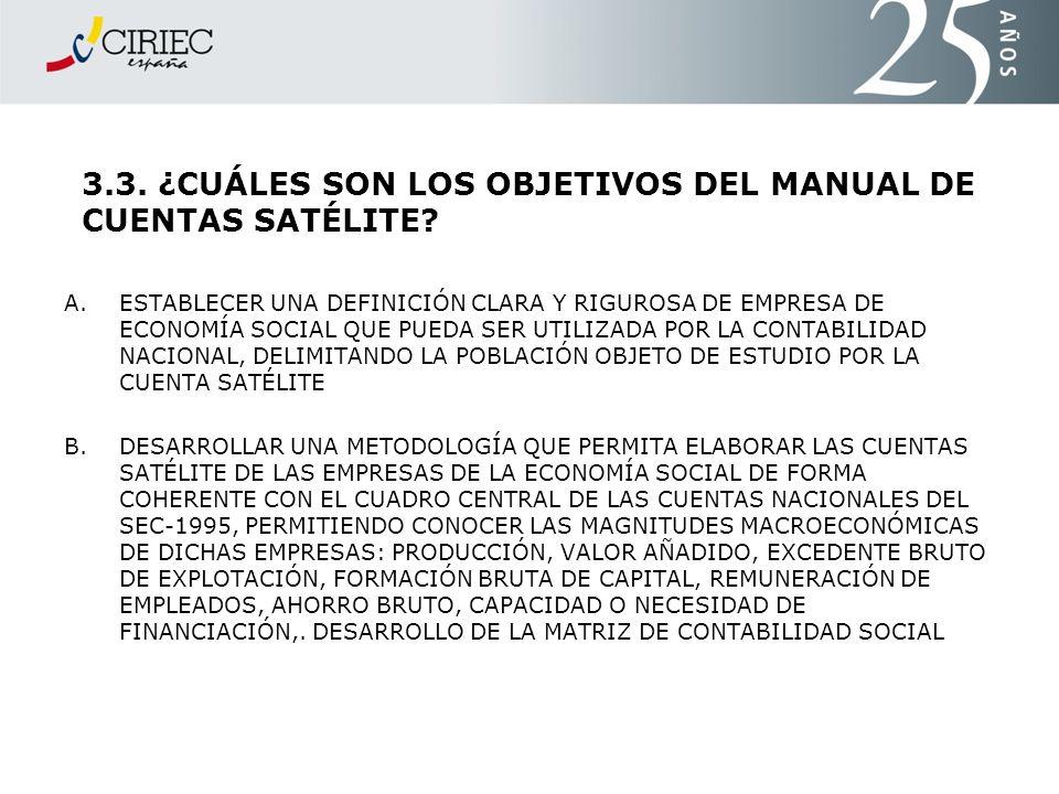 3.3. ¿CUÁLES SON LOS OBJETIVOS DEL MANUAL DE CUENTAS SATÉLITE