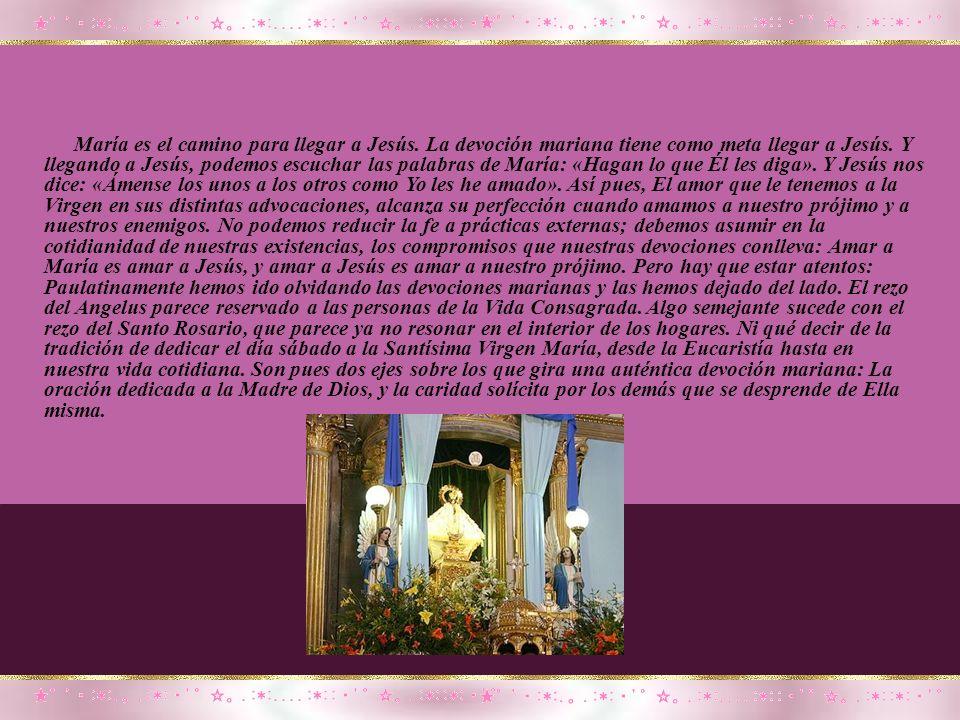 María es el camino para llegar a Jesús
