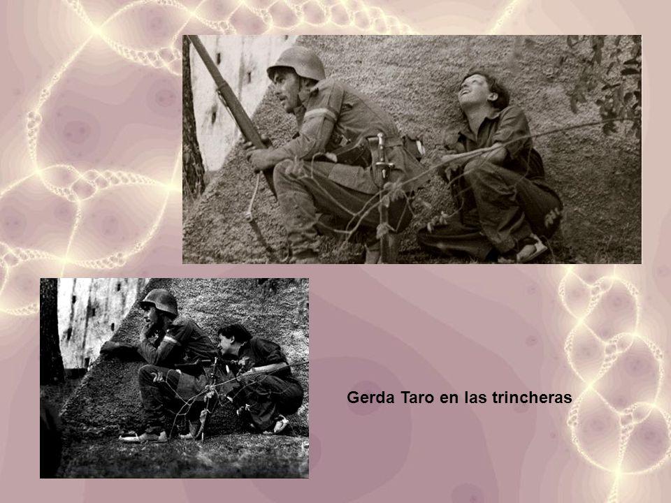 Gerda Taro en las trincheras