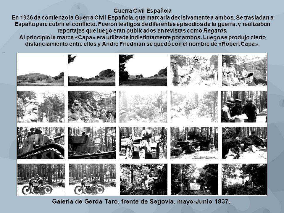 Galeria de Gerda Taro, frente de Segovia, mayo-Junio 1937.
