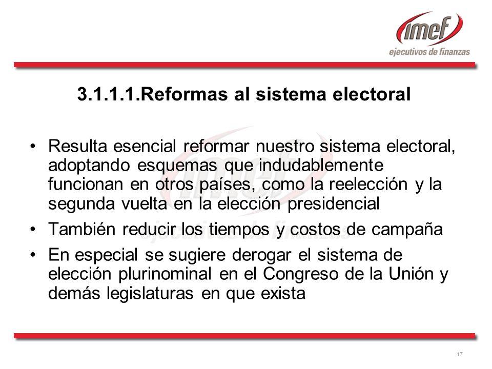 3.1.1.1.Reformas al sistema electoral