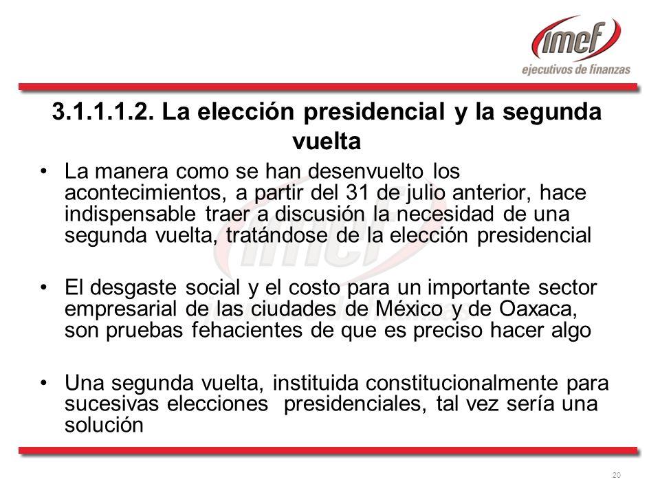 3.1.1.1.2. La elección presidencial y la segunda vuelta