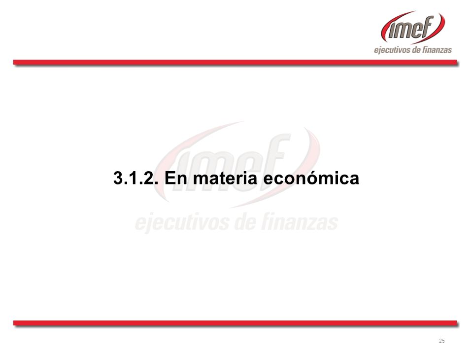 3.1.2. En materia económica