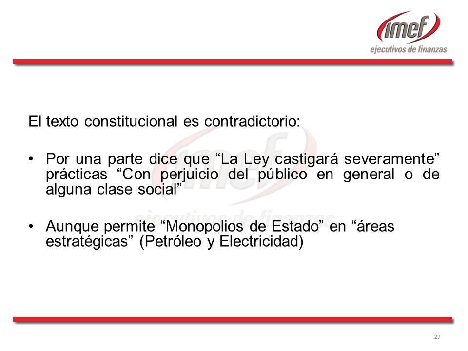 El texto constitucional es contradictorio:
