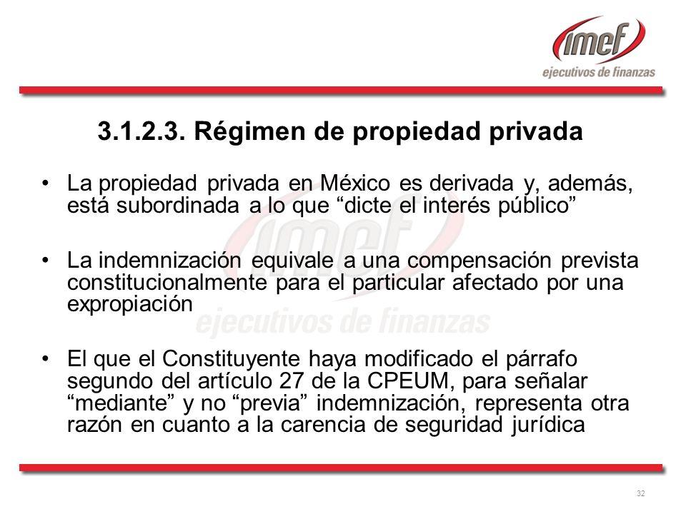 3.1.2.3. Régimen de propiedad privada