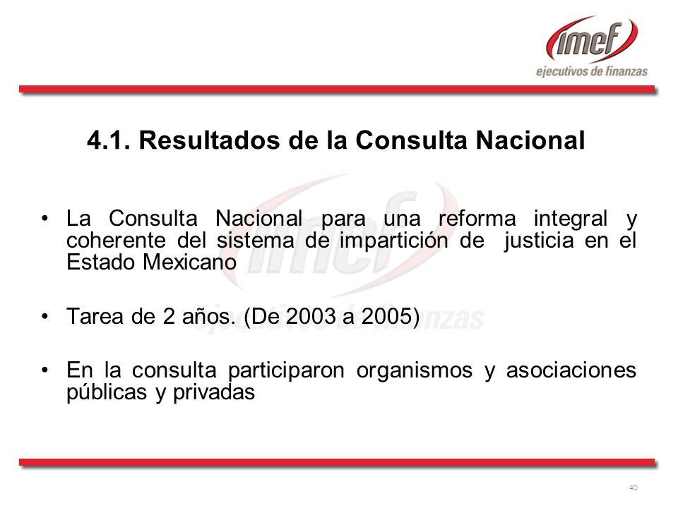 4.1. Resultados de la Consulta Nacional