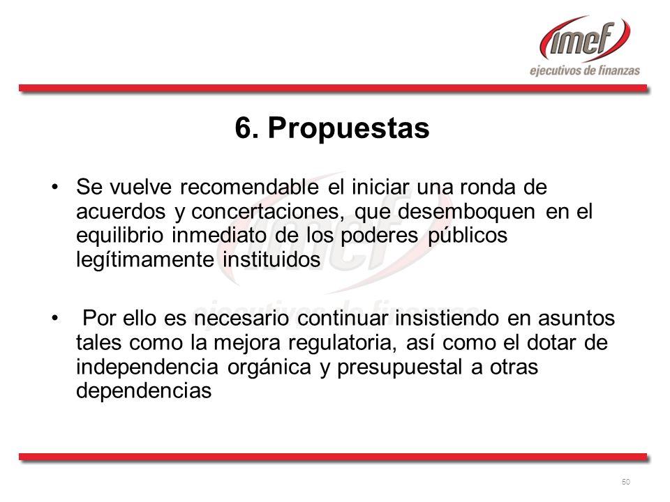 6. Propuestas