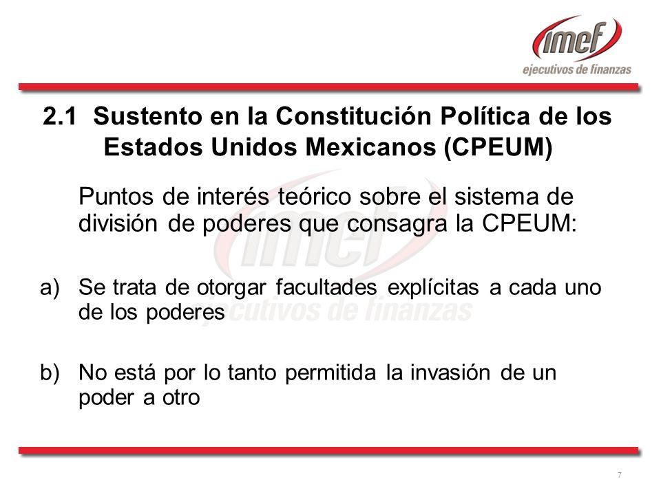 2.1 Sustento en la Constitución Política de los Estados Unidos Mexicanos (CPEUM)