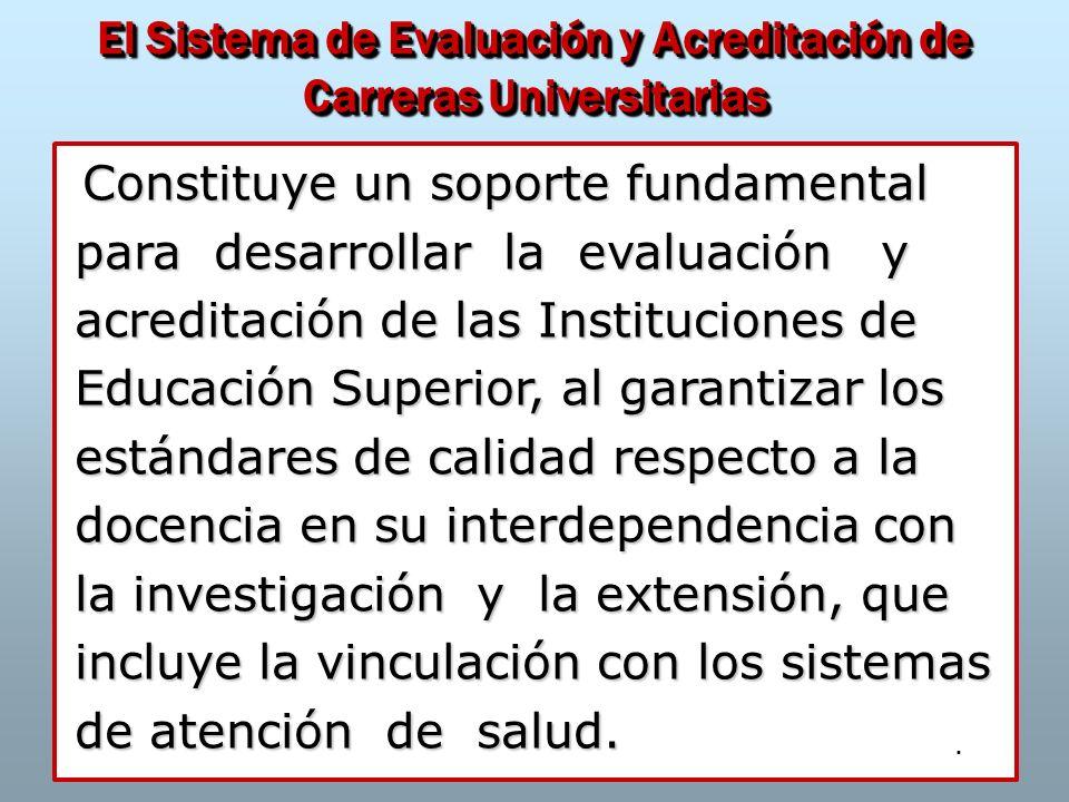 El Sistema de Evaluación y Acreditación de Carreras Universitarias
