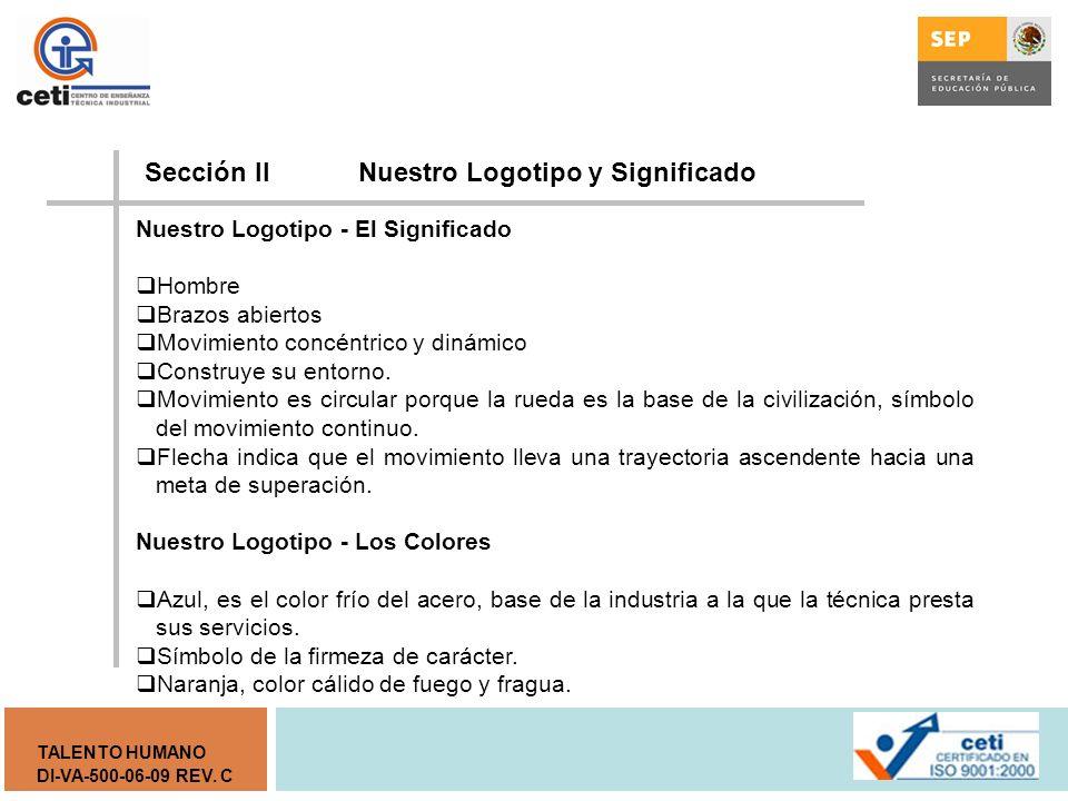 Sección II Nuestro Logotipo y Significado