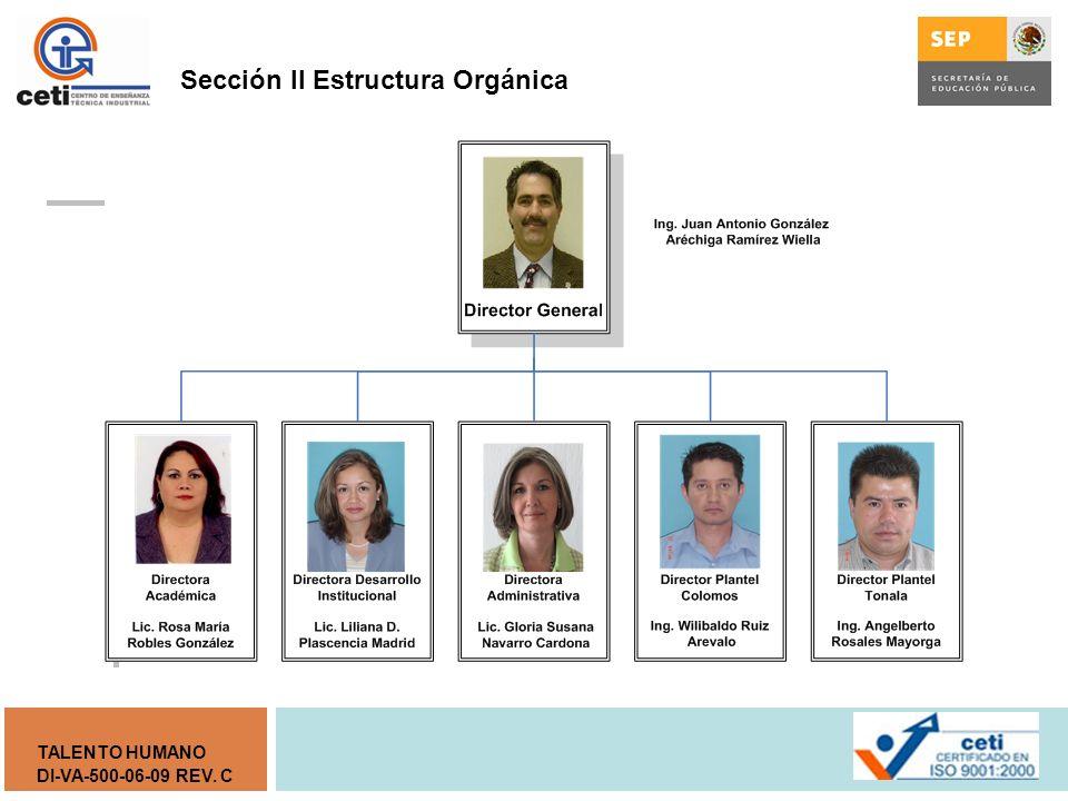 Sección II Estructura Orgánica