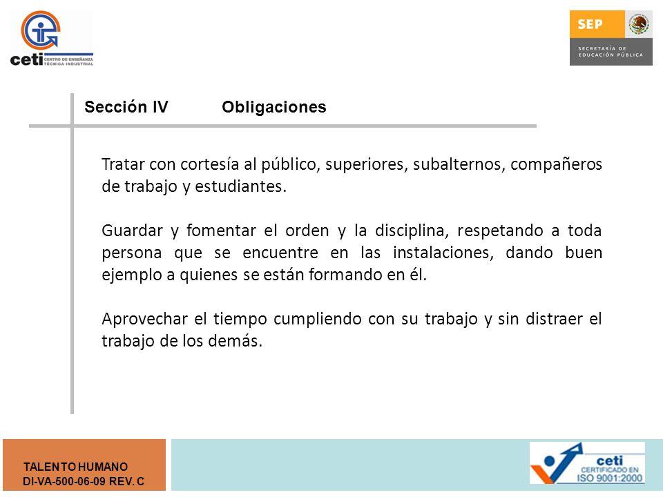 Sección lV Obligaciones