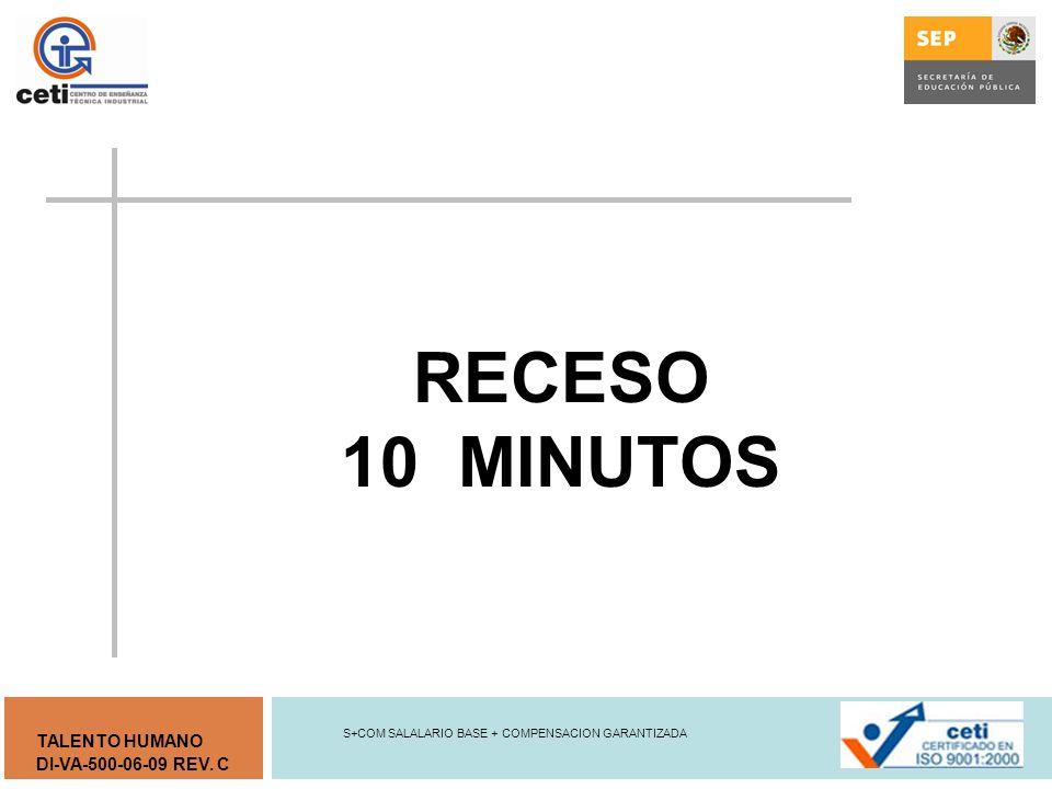 RECESO 10 MINUTOS S+COM SALALARIO BASE + COMPENSACION GARANTIZADA
