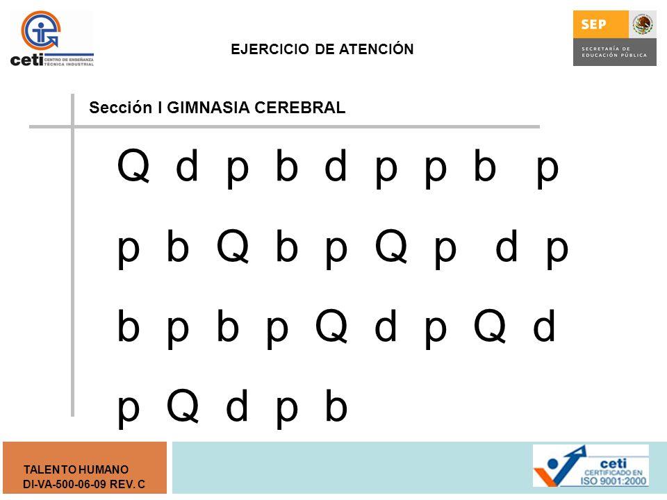Sección I GIMNASIA CEREBRAL
