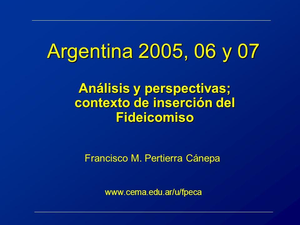 Análisis y perspectivas; contexto de inserción del Fideicomiso
