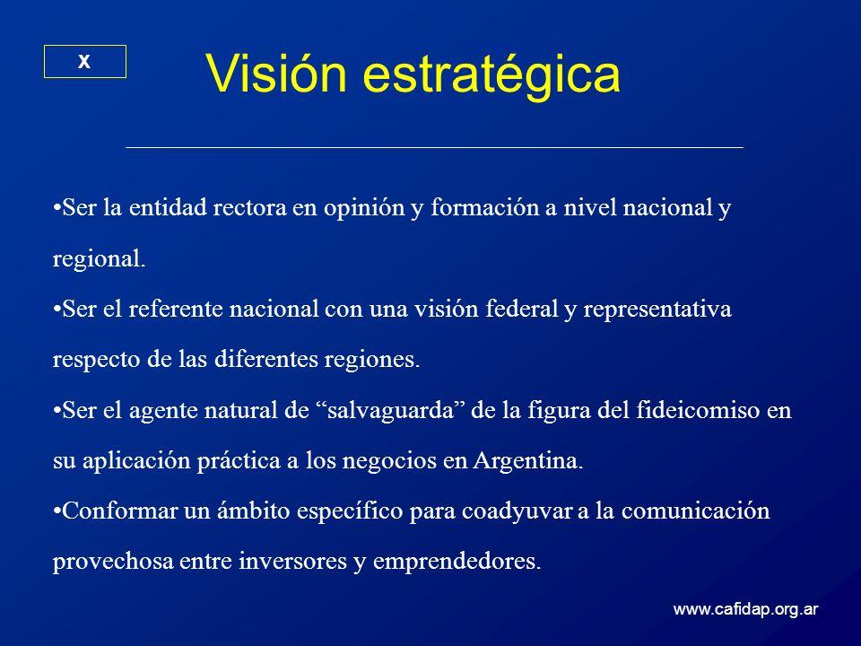 Visión estratégica X. Ser la entidad rectora en opinión y formación a nivel nacional y regional.