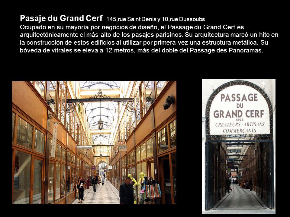 Pasaje du Grand Cerf 145,rue Saint Denis y 10,rue Dussoubs