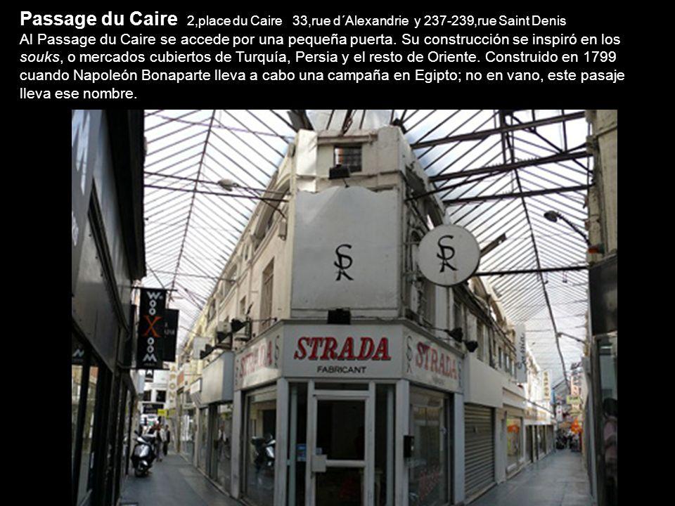 Passage du Caire 2,place du Caire 33,rue d´Alexandrie y 237-239,rue Saint Denis