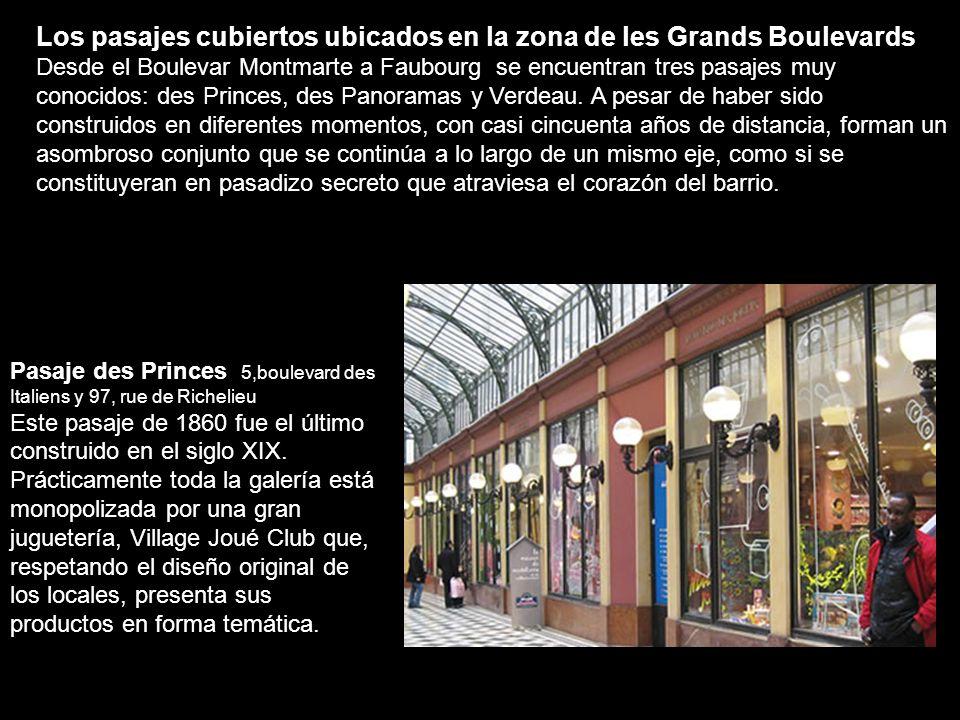 Los pasajes cubiertos ubicados en la zona de les Grands Boulevards