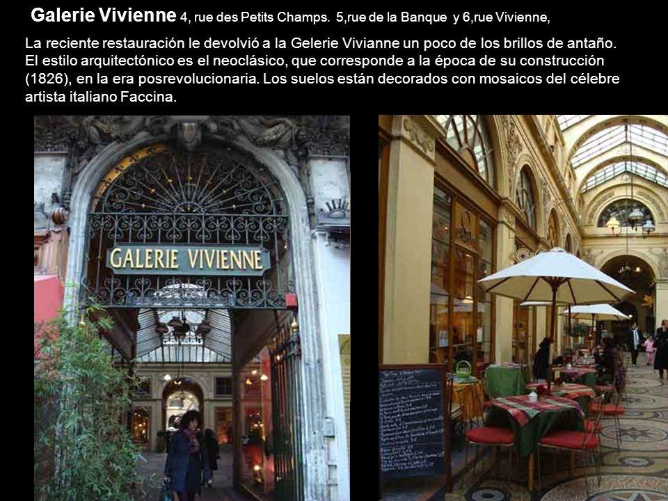 Galerie Vivienne 4, rue des Petits Champs