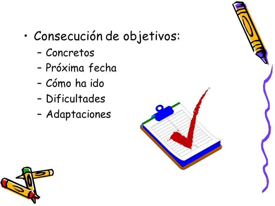 Consecución de objetivos: