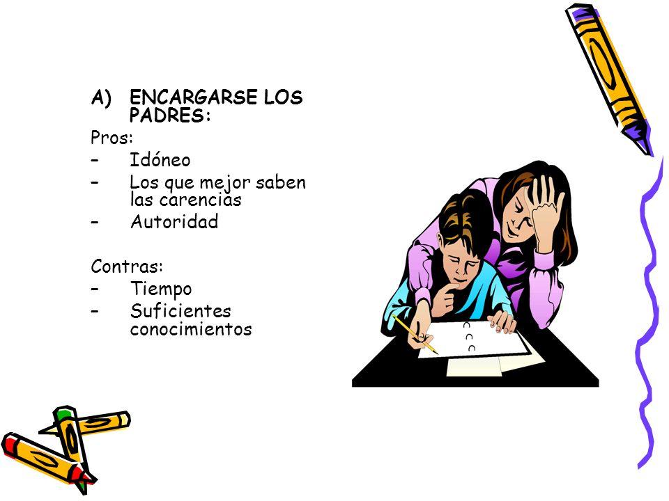 ENCARGARSE LOS PADRES: