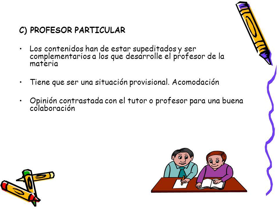 C) PROFESOR PARTICULAR