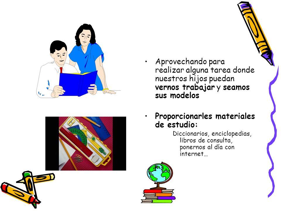 Proporcionarles materiales de estudio: