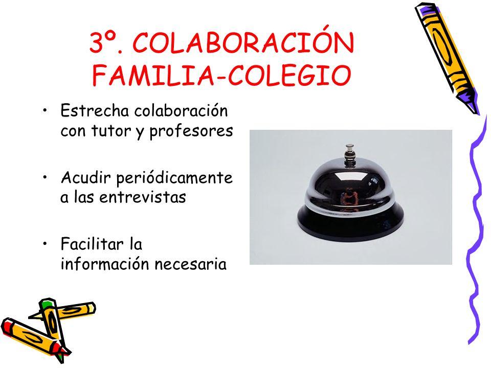 3º. COLABORACIÓN FAMILIA-COLEGIO