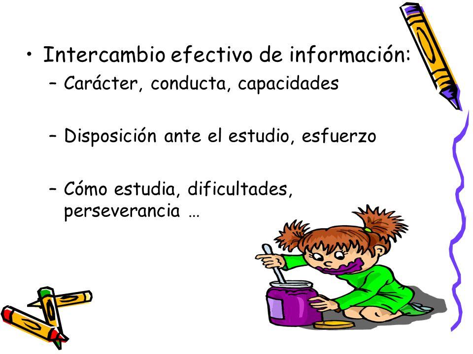 Intercambio efectivo de información: