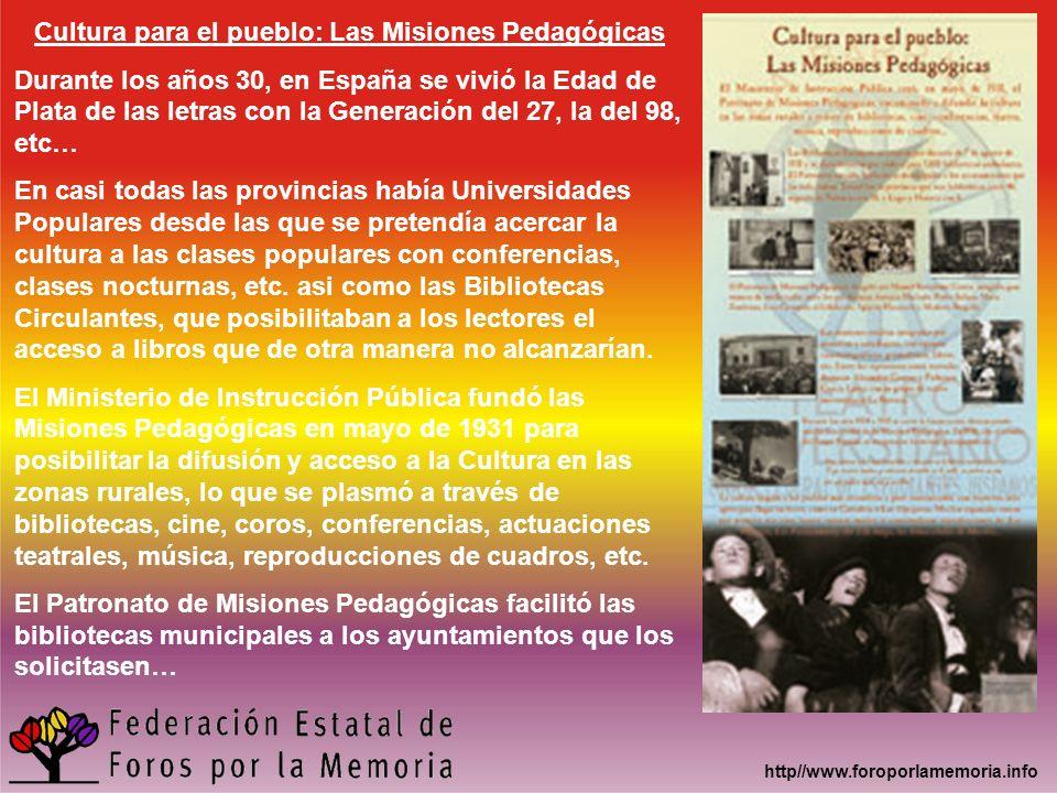 Cultura para el pueblo: Las Misiones Pedagógicas