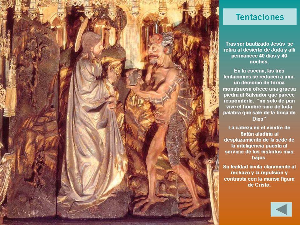 Tentaciones Tras ser bautizado Jesús se retira al desierto de Judá y allí permanece 40 días y 40 noches.